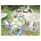 SEV. PIECES CONCRETE YARD ITEMS