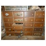 16 DRAWER APATHCARY CABINET