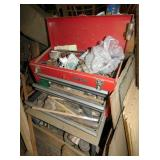 CRAFTSMAN TOOL BOX AND TOOLS