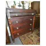 WALNUT DRESSER W/ GLASS KNOBS