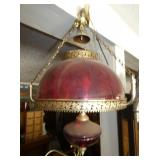 RUBY RED HANGING VICTORIAN LIGHT