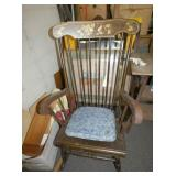 TOLE PAINTED ROCKER
