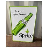 EMB. SPRITE SIGN W/ BOTTLE