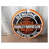 PORC. HARLEY DAVIDSON MOTOR OIL SIGN