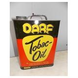 OLD STOCK DARF TOBACCO OIL CAN