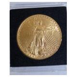 1914 $20 AUGUSTUS SAINT GAUDENS GOLD COIN