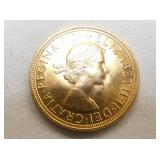 1963 1ST EDITION UK GOLD PENNY