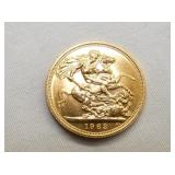 VIEW 2 BACKSIDE QUEEN ELIZABETH II GOLD SOVEREIGN