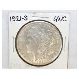 1921S UNC MORGAN SILVER DOLLAR