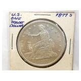 1877 S US $1 TRADE DOLLAR