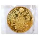 VIEW 2 BACKSIDE 4 DUCAT .448 TROY OZ GOLD