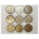 1880,1881,1888,1890,1921 MORGAN SILVER DOLLARS