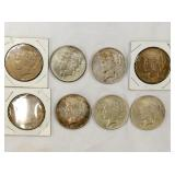 1922,23,24,25,27 PEACE SILVER DOLLARS
