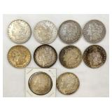 10- 1880-1921 MORGAN SILVER DOLLARS
