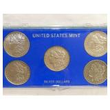 US SILVER DOLLARS MINT SET