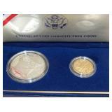 1987 SILVER DOLLAR, $5 GOLD DOLLAR
