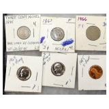 1881-1887 3CENT NICKELS, OTHERS