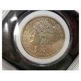 1896 MORGAN SILVER DOLLAR XF/AU