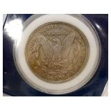 VIEW 2 BACKSIDE MORGAN SILVER DOLLAR 1896