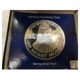 JAMAICA $10 SILVER PROOF