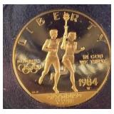 1984 $10 GOLD US OLYMPIC COIN
