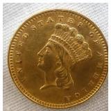 1857 $1 GOLD COIN