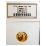 2001 50 YUAN GOLD PANDA COIN