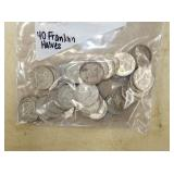 40 FRANKLIN SILVER HALVES