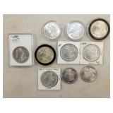 (10) 1879-1902 MORGAN SILVER DOLLARS