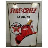 12X18 PORC. 1940 FIRE CHIEF PUMP PLATE