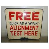 VIEW 2 OTHERSIDE ALIGNMENT TESTER SIGN