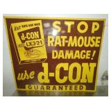 27X32 D-CON RAT MOUSE DAMAGE SIGN