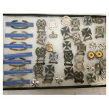 STERLING MILITARY MARKSMEN PINS