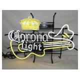 CORONA LIGHT GUITAR NEON