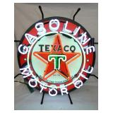 TEXACO GASOLINE/OIL NEON SIGN
