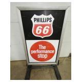 PHILLIPLS 66 SIDEWALK SIGN