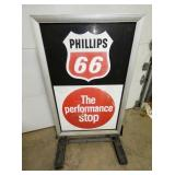 VIEW OTHERSIDE PHILLIPS 66 SIDEWALK SIGN