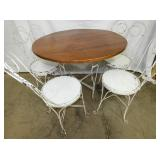 5 PIECE IRON ICE CREAM TABLE SET