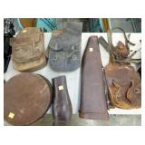 EARLY SADDLE BAGS AND GUN SCABBARDS