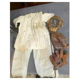EARLY ORG. BASEBALL UNIFORM AND GEAR