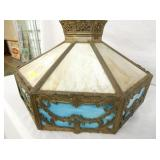 VIEW 2 OTHER SIDE STAIN GLASS LIGHT SHADE