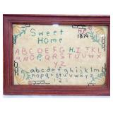7X10 1874 HOME SWEET HOME SAMPLER