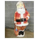 4FT PLASTIC SANTA YARD ART