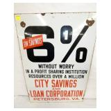 VIEW 2 CLOSE UP CITY SAVINGS SIGN