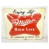 19X23 1955 MILLER SIGN SELF FRAMED