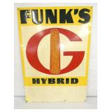 19X28 EMBOSSED FUNKS HYBRID SEED SIGN