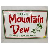 7X26 PORCELIAN MTN DEW MODERN SIGN