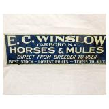 7X22 EC WINSLOW HORSES AND MULES SIGN