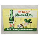 20X30 EMBOSSED MODERN MTN DEW SIGN