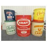 LARGE EARLY LARD TINS